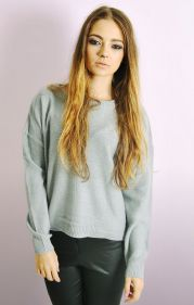 Boxy Jumper in Silver